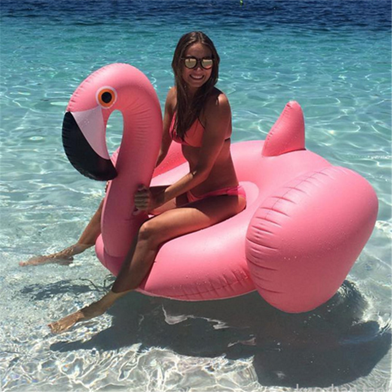 Giant Inflatable Flamingo Pool Float Ride-On Unicorn Swimming Ring For Adults Children Water Holiday Party Toys Piscina 190 190cm fashion summer style gigantic pink ride on swim ring pool toys inflatable flamingo floating row for holiday water fun