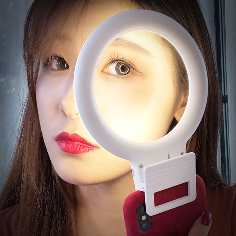 1PC Portable Annular Light, Selfie Lamp Stylish Powerful Selfie Backlight For IPhone Xiaomi Samsung Smartphones