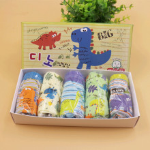 2017 Kids Underwear 5pcs/lot Baby Girls Panties Cotton Panties for Children Shorts For Boys cute dinosaur Children's Briefs