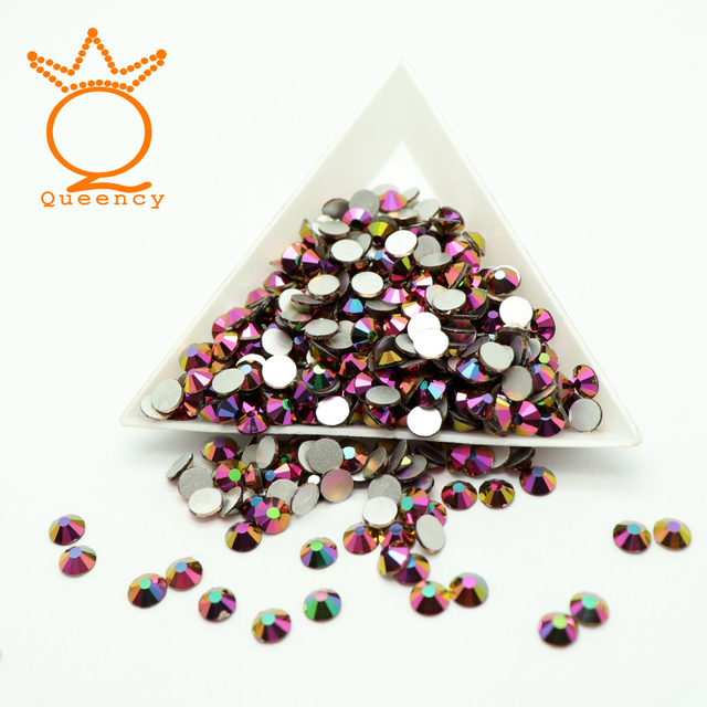 Rainbow Rose Gold SS3-SS30 Flatback Rhinestone Stickers Glue On Clothing Non  Hotfix Rhinestones Resin Strass Nail Art Decoration 56023c94f14a