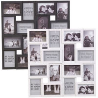 12pcs/set 6 Inch Environmental DIY Photo Frame Black White Photo Frame For Decorative Wall Home Decoration Supplies