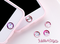 20pcs Cartoon Touch ID Button Protector Sticker Home Keypad Hello Kitty For IPhone 5s 6s 7