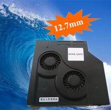 KOOLASON 12.7mm מחשבים ניידים מחברת אופטי CD ROM כונן שונה קירור Cooler SATA שקט מתכווננת מהירות טורבו אוהדי רדיאטור