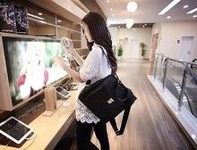 Тенденция Корейских Старинные вилка блокировка рюкзак мешок, студенческие сумки большой емкости ветер