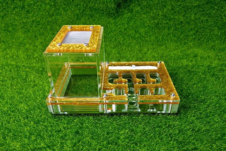 2018 Transparent Ant Haus Spielzeug Insekt Käfig Nest Farmen Acryl Display Trapez Box Kid Wissenschaftliche Beobachtung Pädagogisches Spielzeug SpäTester Style-Online-Verkauf Von 2019 50%