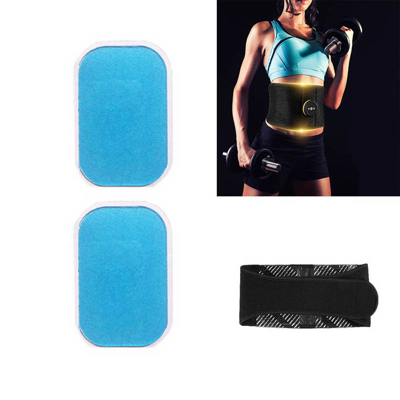 2Pcs Gel Pads Sheet Hydrogel Pads Sticker 13.5*9.5cm Slimming Body Belts Electric Muscle Stimulator Trainer Toner Waist Support