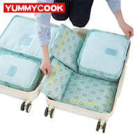 Travel Kits Storage Bags 6pcs Set Toiletries Shoes Clothes Organizer Pouch Accessories Supplies