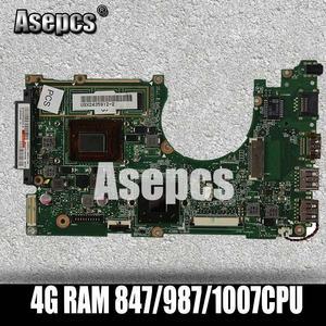 Asepcs X202E Laptop motherboard für ASUS X202E X201E S200E X201EP Test original mainboard 4G RAM 847/987/ 1007CPU