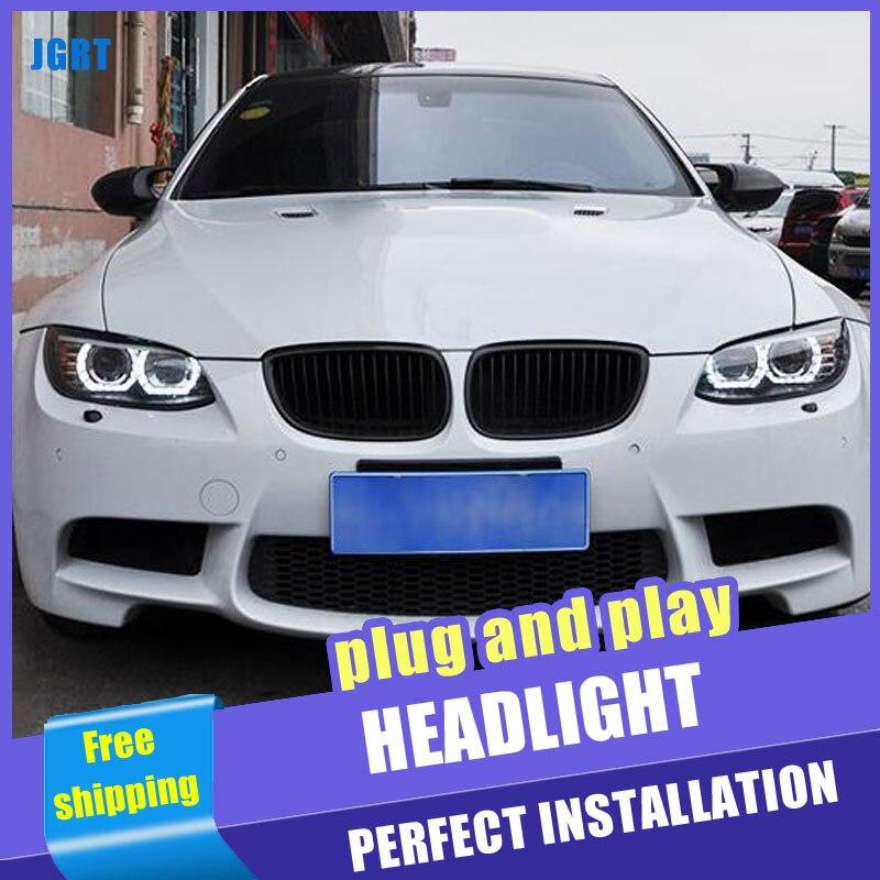 2PCS Car Style LED headlights for BMW M3 e92 e93 2008 2013 for M3 head lamp LED DRL Lens Double Beam H7 HID Xenon bi xenon lens - 2