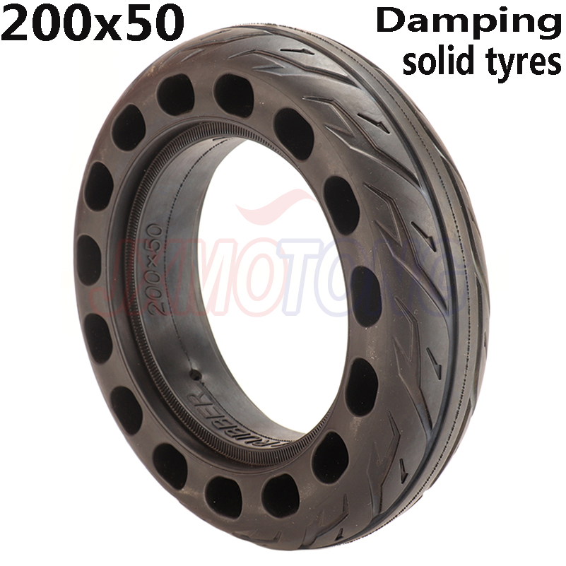 200x50 Solid Tubeless Rubber <font><b>Tire</b></font> 8