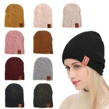 цена на 2019 Winter Hats for Woman HipHop Knitted Hat Women's Warm Slouchy Cap Crochet Ski Beanie Hat Female Soft Baggy Skullies Beanies