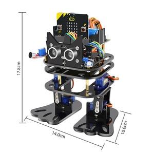 Image 4 - Elecrow マイクロ: ビットプログラマブルダンス DIY ロボット二足歩行人型サーボロボットマイクロビットプログラミング学習キット子供のための