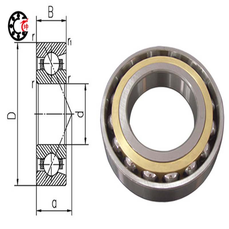 90mm diameter Four-point contact ball bearings QJ 318 N1M/P6C3S0 90mmX190mmX43mm Brass cage ABEC-3 Machine