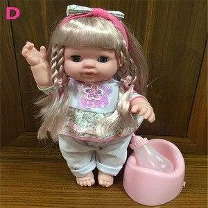 Reborn lalki dla dzieci kawaii lalki mała dziewczynka dźwięk pić wodę pee migać oko dziecko dziewczyny stroje kąpielowe prysznic udawaj, że bawisz się do karmienia