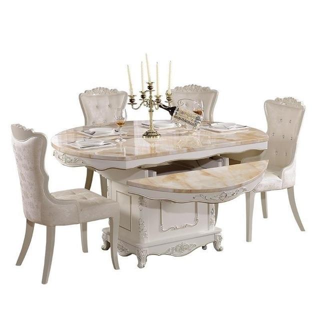 Eet Tafel Pliante Set De Salle A Manger Moderne Meja Makan Tavolo European Desk Mesa Comedor
