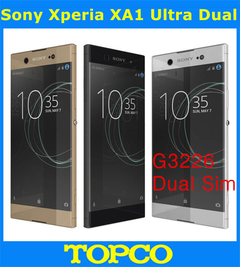 Sony Xperia XA1 Ultra Dual G3226 Original Unlocked GSM Dual Sim 4G LTE Android Octa Core RAM 4GB ROM 64GB 6.0