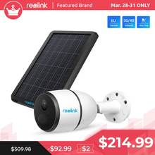 Reolink GO 4G Network Camera with Solar Panel Outdoor Power Charging Security Animal IP Cam with 2-way Audio, Local Recording