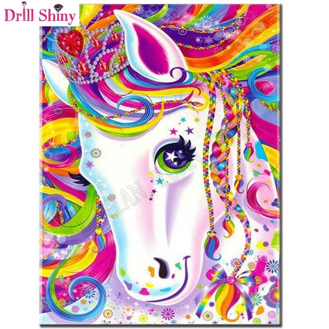 5D Full Diamond Painting Cross Stitch Kit Cartoon Unicorn