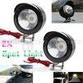 2x Motorcycle LED 5W Headlight Spotlight Fog Safe Light Moto Driving Spot Safety Night Head Lamp New