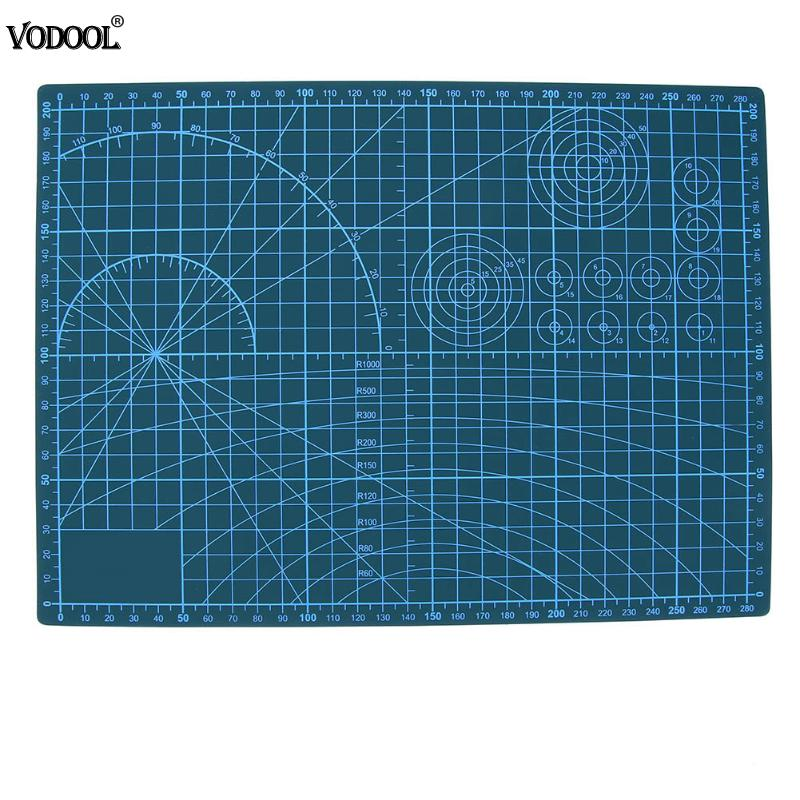 VODOOL A4 PVC Cutting Mat Double Sides Craft Self-Healing Patchwork Sewing Mat DIY Home Office Board Measuring Tool Stationery