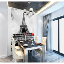 beibehang Personalized custom wallpaper papel de parede entrance Pictures Television 3d background wallpaper Eiffel Tower mural(China)