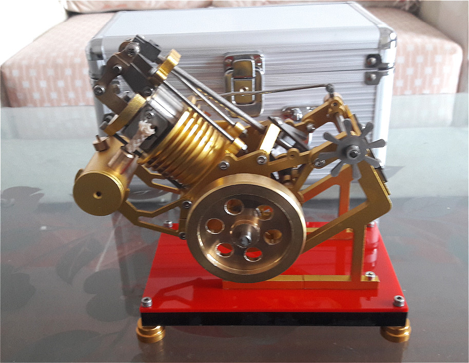 Stryn Engine Model, Miniature Engine, Steam Engine Scientific Experiment Toy for Birthday Gift.
