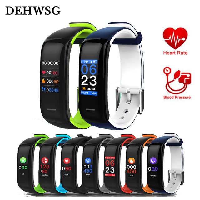DEHWSG Fitness Tracker Color Screen Sport Band D1 Plus Waterproof Activity bracelet Heart Rate Monitor Smartband for IOS Android