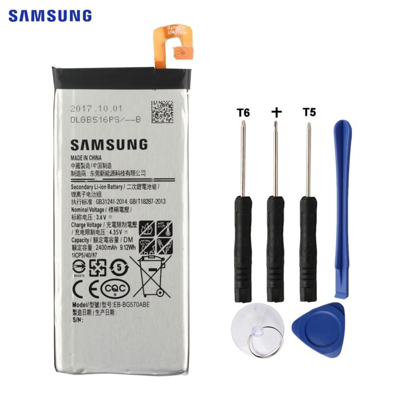 SAMSUNG Batterie D'origine EB-BG570ABE Pour 2016 Édition Samsung Galaxy On5 G5700 G5510 J5 Premier 2400 mah