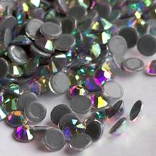 AAAAA Clear AB Crystal Hot Fix Rhinestone Glass Strass Hotfix Iron On Rhinestones For Fabric Garment SS16 SS20 SS30