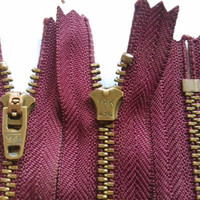 50 Pcs/lot Cheap Short Ykk Metal Zipper Close End Purple Red Bronze Copper for Pants Sewing Accessories Wholesale
