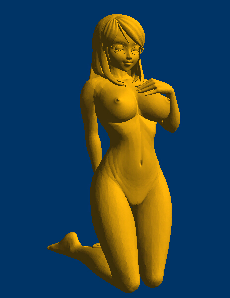 3D Carved Figure Sculpture 3d Model For Cnc Machine In STL File Format Nude Women 178MB