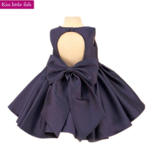 092fe18b2d3 Free shipping Navy blue baby girls birthday party dress Little flower girl  dresses for weddings