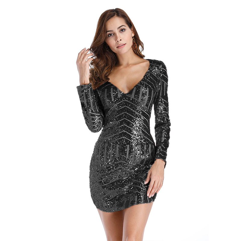 6bc752bb MUXU sexy summer women dress vestidos mujer glitter gold sequin dress  fashionable dresses womens clothing clothes long sleeve -in Dresses from  Women's ...