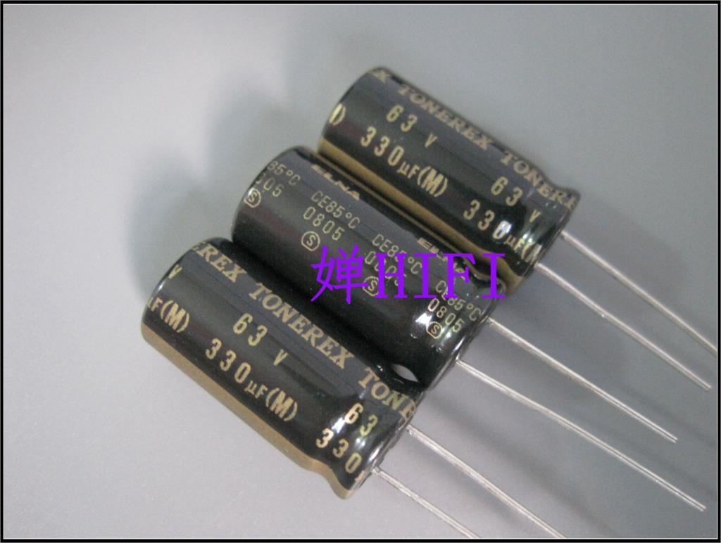 2019 hot sale 20PCS/50PCS ELNA original TONEREX black gold copper feet  audio capacitor 63v330uf 13x25mm free shipping2019 hot sale 20PCS/50PCS ELNA original TONEREX black gold copper feet  audio capacitor 63v330uf 13x25mm free shipping