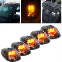 5Pcs Smoked Lens Car SUV 4x4 Cab Roof Top Full Amber LED Running Parking Lights(China)