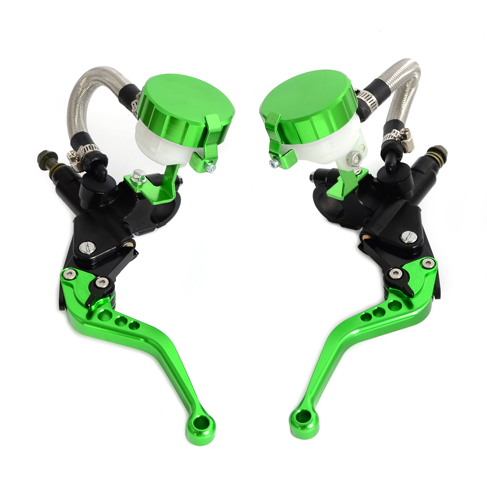 "Image 5 - NICECNC Universal Motorcycle 7/8""Clutch Brake Levers Master Cylinder Oil Fluid Reservoir Motocross Enduro Supermoto Dirt Bike-in Levers, Ropes & Cables from Automobiles & Motorcycles"