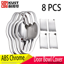 KUST ABS Car Door Bowl Cover For Toyota For Highlander 2015 2016 Car Door Bowl Cover Sticker For Highlander Exterior Accessoris