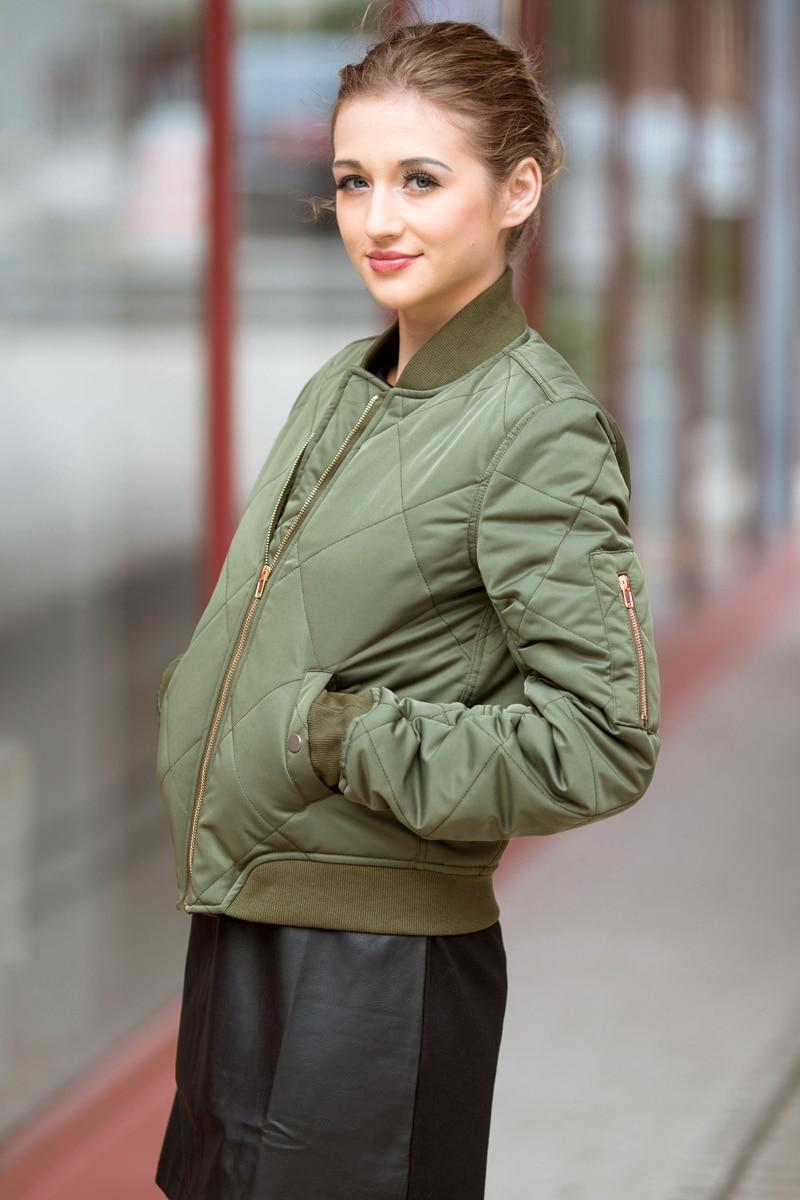 HTB1M.e7ljqhSKJjSspnq6A79XXa0 Bella Philosophy autumn winter quilting bomber jacket women coat zipper long sleeve winter jacket cotton-padded pink outwears
