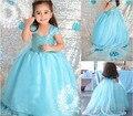 Promociones nueva belleza Anna princesa de las muchachas del vestido del verano del paño del partido Vestidos bebés bebé niños de encargo Elsa Vestidos