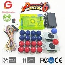 Original Pandora Box 6 1300 Games Set DIY Arcade Kit Push Buuttons Joysticks Machine Bundle Home Cabinet with manual