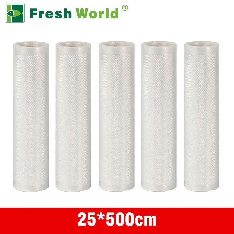 25x500cm Food Vacuum Sealer Rolls For Fresh Keeping Heat Sealer Food Saver Bags Kitchen Vacuum Packaging of Food Fresh Bag lagute vacuum sealer saver bags rolls fresh keeping for kitchen food storage all sizes 8 x 16 11 x 16 8 x 50 11 x 50