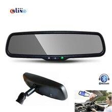 Frete Grátis, Bluetooth Car Kit Com 4.3 Polegada Retrovisor Do Carro Espelho Do Monitor. Suporte especial Para O Reequipamento Espelho Retrovisor Original