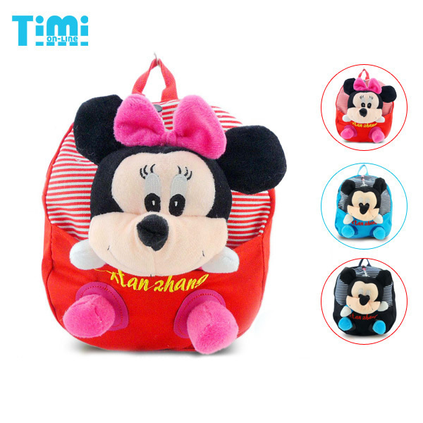 Super! Mickey Mouse mochila com Mickey brinquedos de pelúcia, removível, bom presente para as crianças, Frete grátis