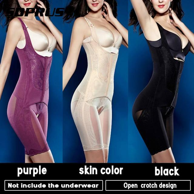 36560f78d9 Hot Body Shaper Slimming Waist Trainer Postpartum Open Bust Slim Lift Tummy  Control Thigh Vest Body