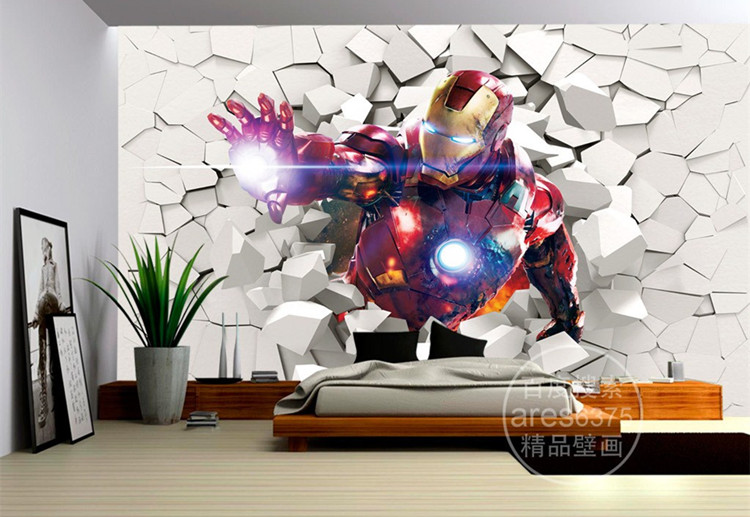 3D Iron Man Wallpaper Marvel Heroes photo wallpaper Custom Wall ...
