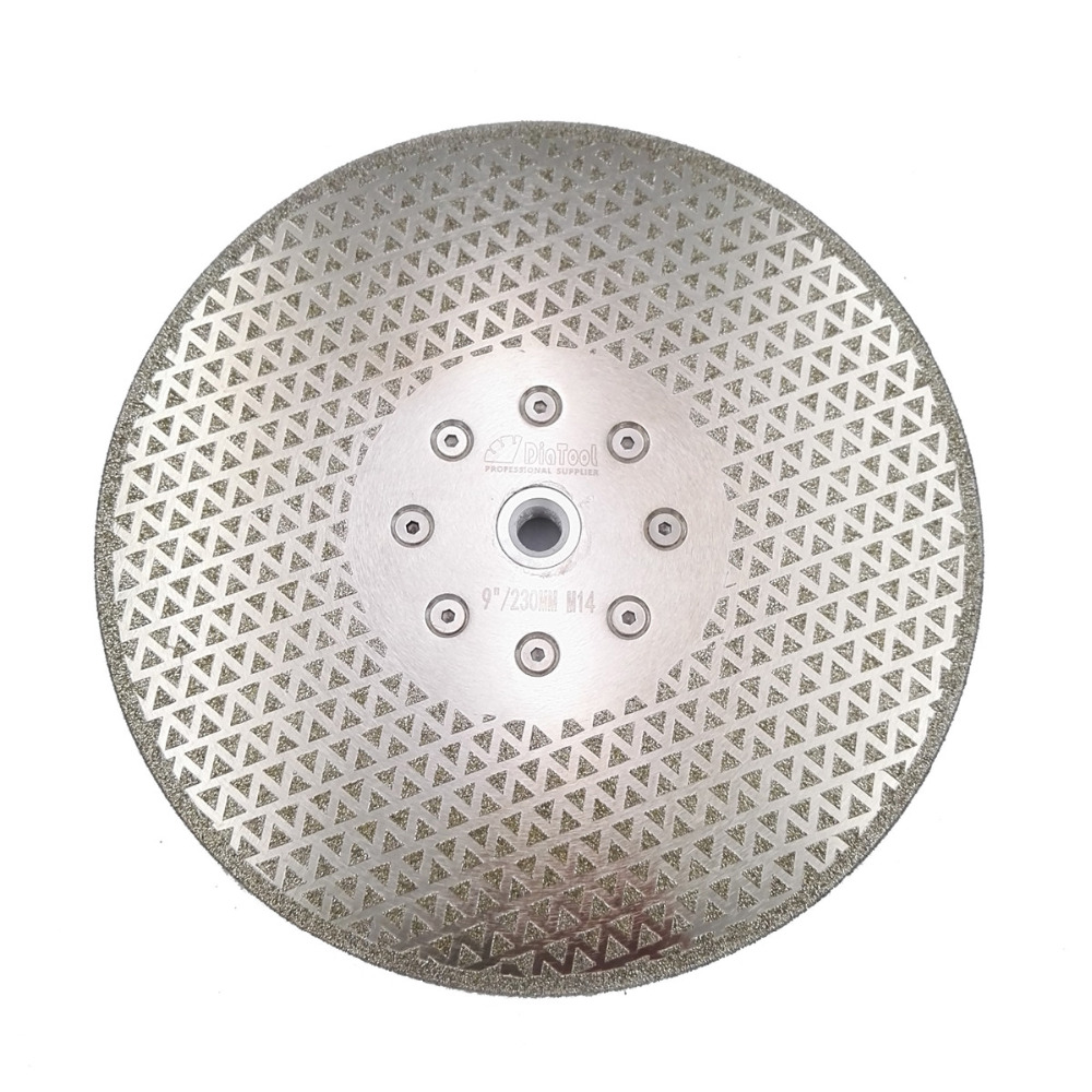DIATOOL 9/230mm electroplated diamond cutting and grinding discs for granite & marble