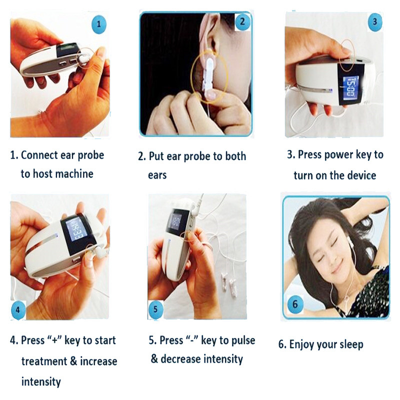 ATANG 2019 New for Anxiety Insomnia Anti Sleep Electrotherapy CES Device Depression Acupuncture Electronic Stimulator