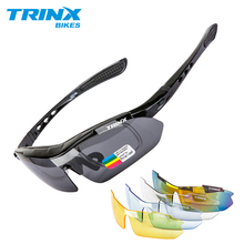 TRINX Cycling Glasses Polarized Eyewear Sports Men Sunglasses Bicycle Riding Protection Goggles 5 Lenses