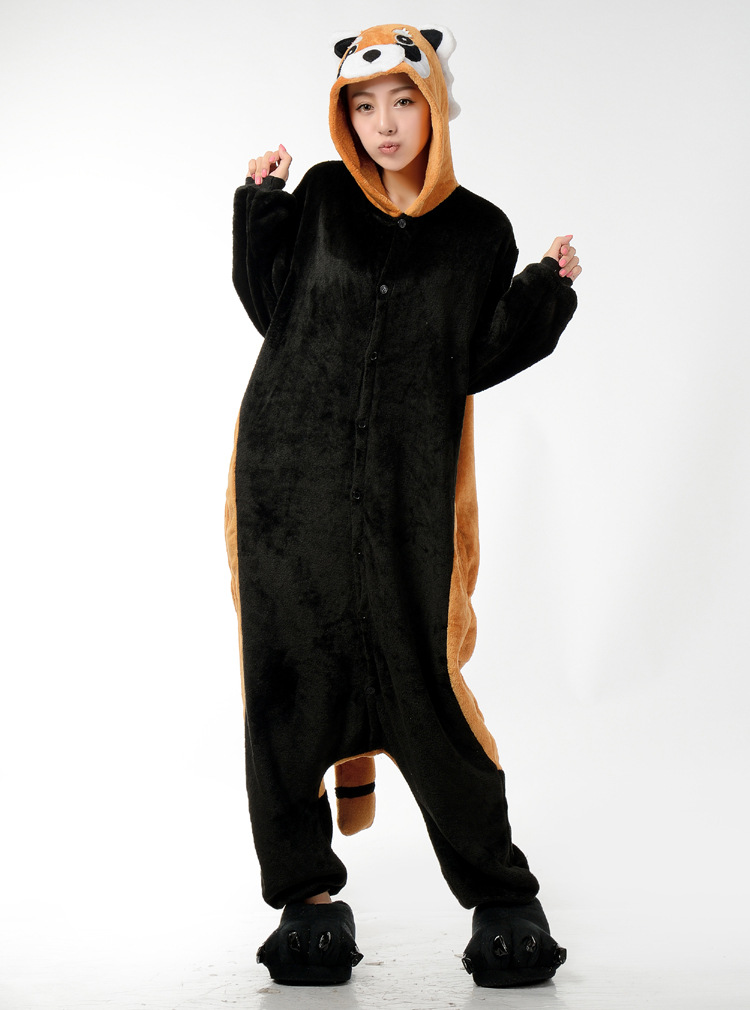 fox Racoon Kigurum Pyjamas Unisex Pijamas Sleepwear Raccoon Pajamas Adult Onesies Christmas Animal Cosplay Costume Cartoon