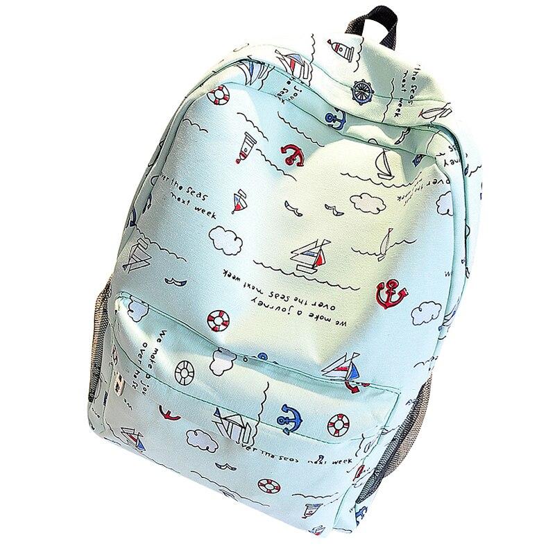 Women Canvas Shoulder Bag Female Korean Version Girls Schoolbags Secondary School Students Unisex Backpack Mochila Masculina Ba